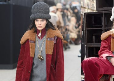 Kendall Jenner Walks (& Sits) During Marc Jacobs' Unique NYFW Show!