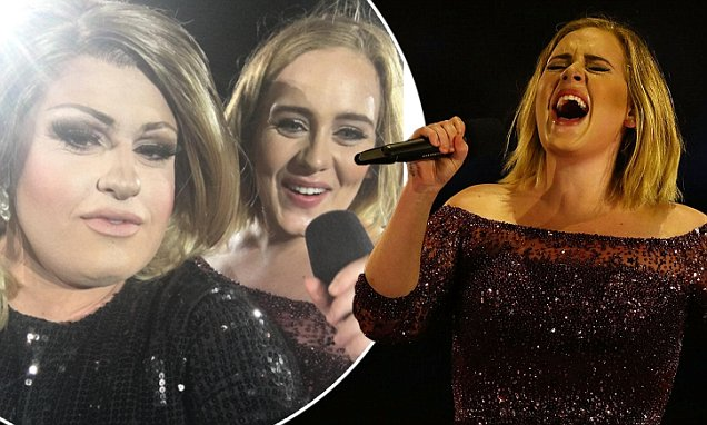 ADELE Invites LOOKALIKE Drag Impersonator to Join Her ON STAGE image