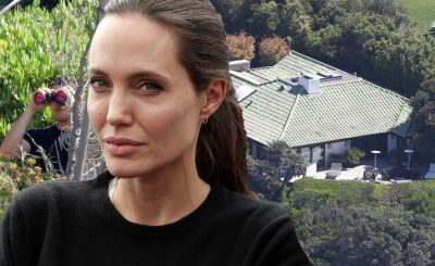 Angelina Jolie's Security Team Hide in the Grass With Binoculars After Kim Kardashian's Paris Attack!