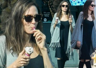 Angelina Jolie Goes Halloween Shopping, Stops for Ice-CREAM!