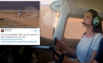 Angelina Jolie Lets Her Nine-Year-Old Fly an AIRPLANE!