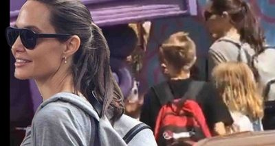Angelina Jolie Celebrates Shiloh's 11th Birthday @ DISNEYLAND!