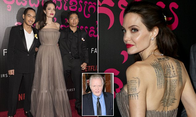 MADDOX, Pax, and Jon Voight Join Angelina Jolie at'First They Killed My Father' Premiere