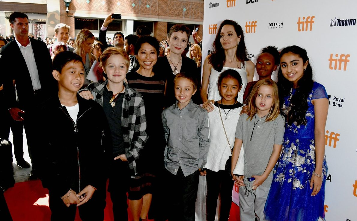 ANGELINA JOLIE Brings Kids to Toronto Film Festival 'Breadwinner' image