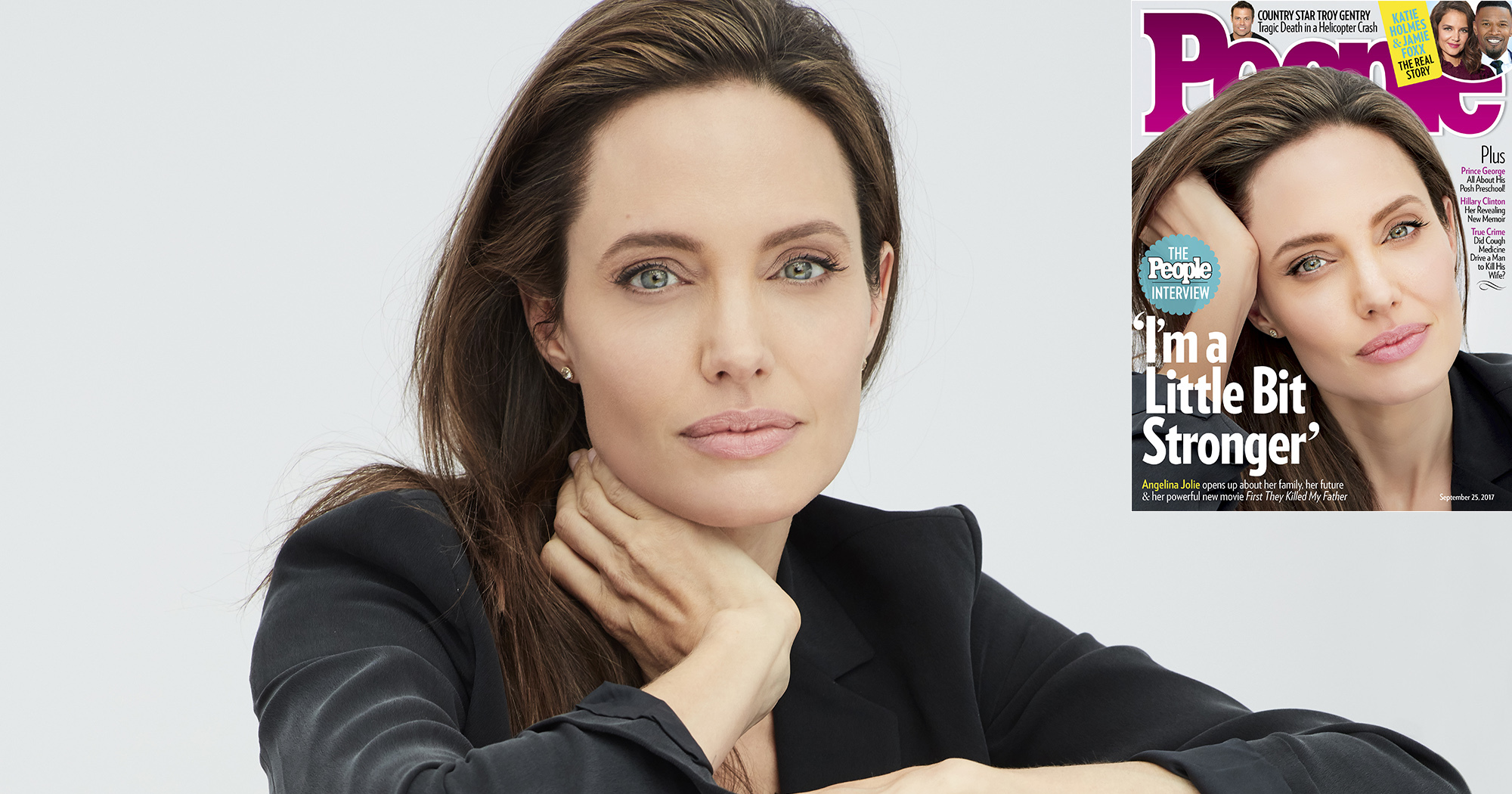 """Angelina Jolie Covers PEOPLE, Says:""""I Am a Little Bit STRONGER!"""""""