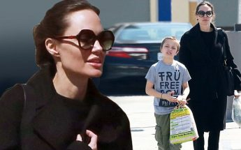 Angelina Jolie @ a Pet Store in ALL BLACK