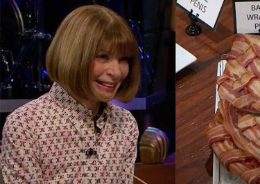 Anna Wintour Eats Deep Fried Butter on Spill or FILL Your Guts With James Corden