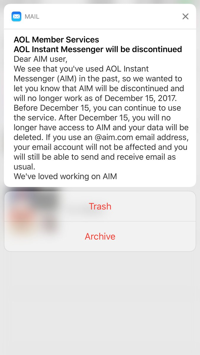 AOL Instant Messenger Shuts Down FOR GOOD! image