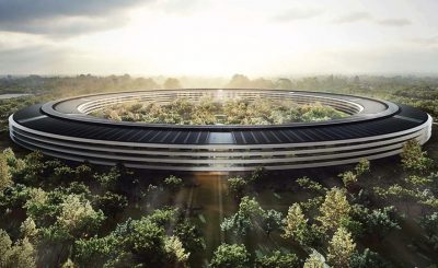 Apple Spaceship Headquarters Footage via 4K Drone