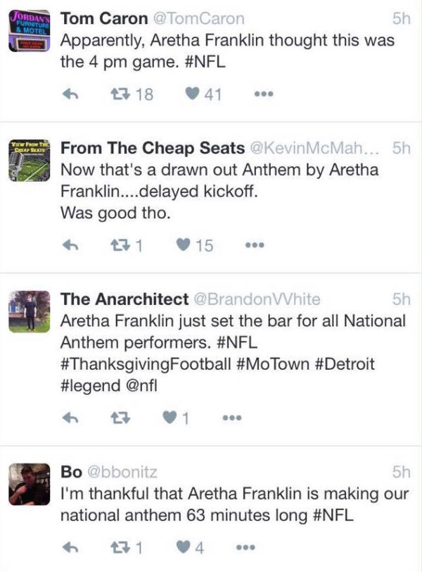 GET A MOVE ON: People are FURIOUS With Aretha Franklin Over Her Lengthy National Anthem