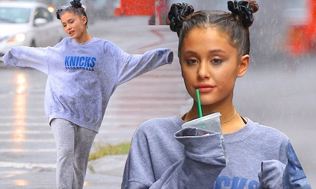 Ariana Grande Gets Drenched IN A RAINSTORM! image