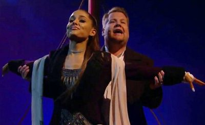 Ariana Grande Performs TITANIC Soundtrack By Celine Dion