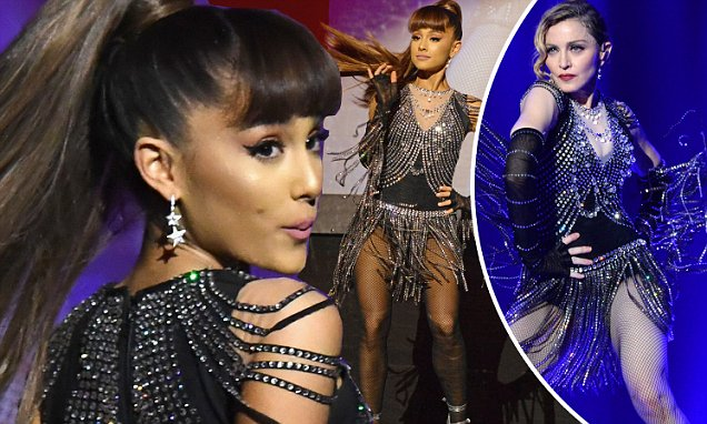 Madonna TWERKS With Ariana Grande for Charity! image