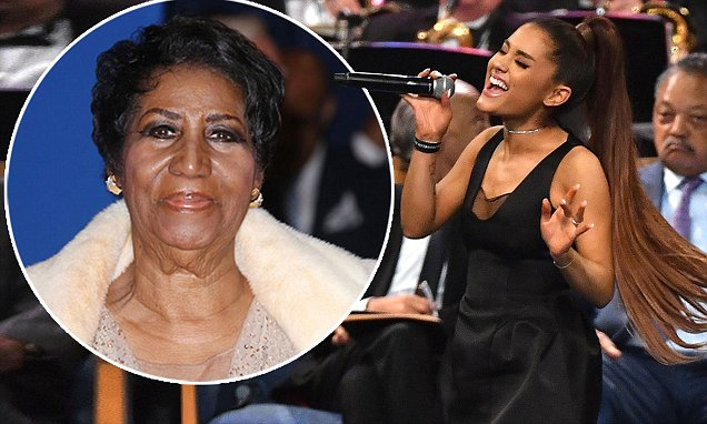 Ariana Grande Holds Concert at Aretha Franklin's FUNERAL! image