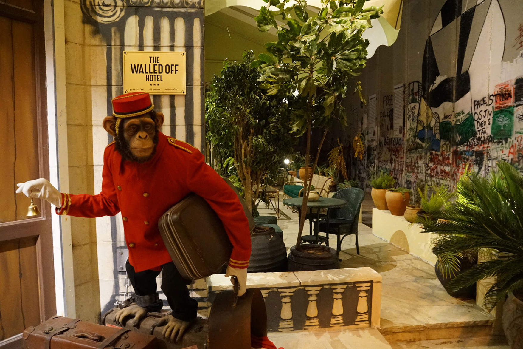 PHOTOS From the Banksy Hotel in Bethlehem image