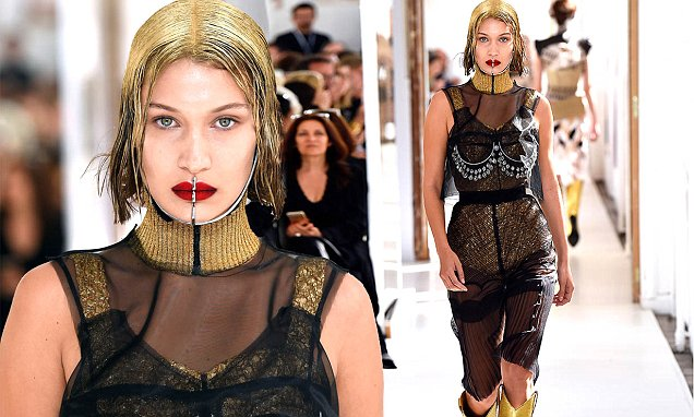 Bella Hadid is a METALLIC WOMAN at 'Maison Margiela' Show in Paris image