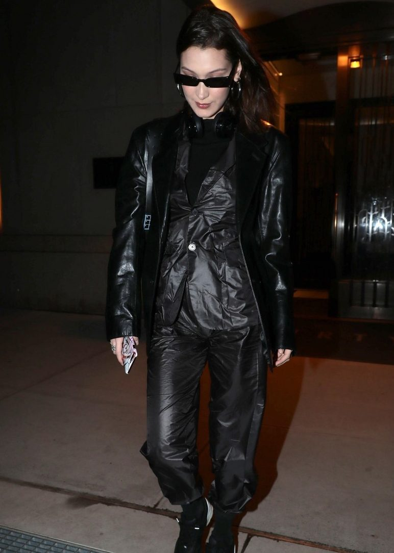 Bella Hadid in ALL BLACK, NYC image