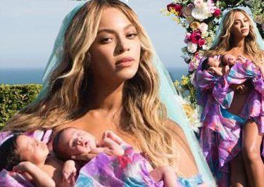 BEYONCE Shares Photos of Twins: Sir Carter and Rumi!