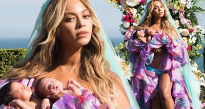 BEYONCE Shares Photos of Twins: Sir Carter and Rumi!