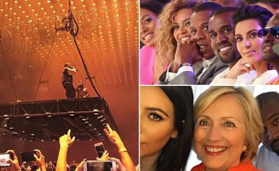 """WHO IS THIS MAN??"" Kanye West SLAMS Beyoncé, Hillary Clinton, Jay-Z, and Wife Kim in Sacramento!"