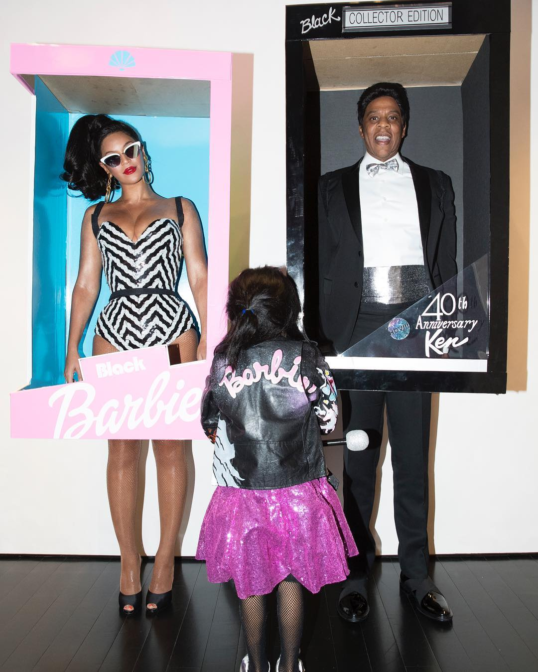 Beyoncé and JAY-Z Dress Up as Black Barbie & Ken For Halloween image