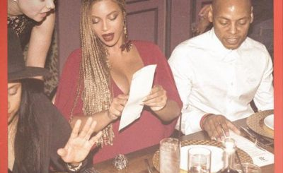 LADY IN RED: Beyoncé Shows Off Baby Bump at Private Dinner!