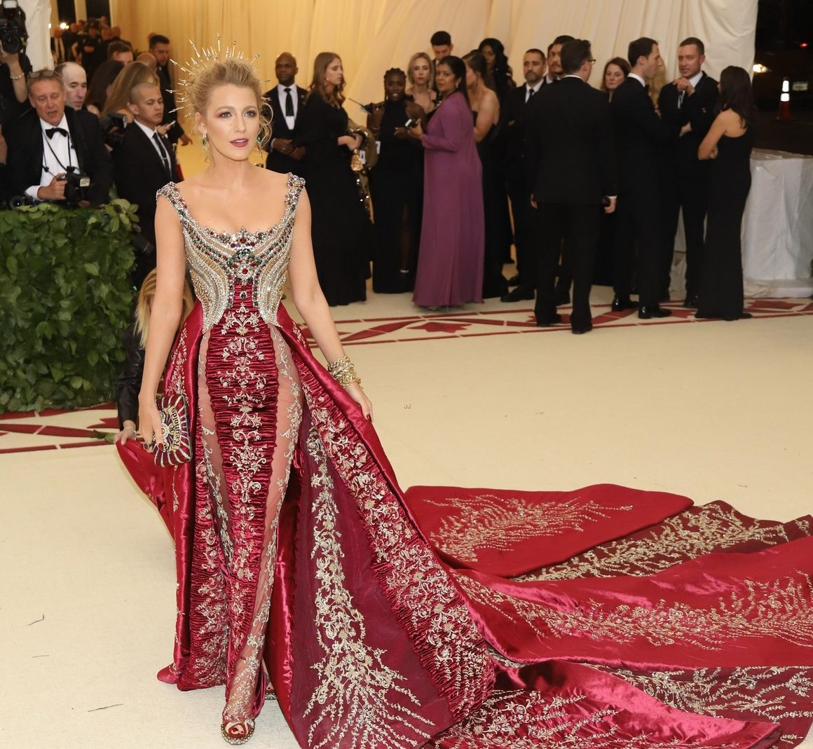 OVER THE TOP: Blake Lively Wears 'FAVORITE DRESS' and $2 MILLION JEWELS to Met Gala 2018 image