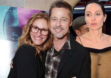 Brad Pitt's First Public Appearance Since Angelina Jolie Divorce With Fellow Divorcée Julia Roberts!