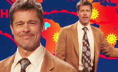 Brad Pitt Plays a Sexy Weatherman on 'The Jim Jeffries Show'
