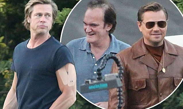 Brad Pitt and Leonardo DiCaprio Film 'Once Upon a Time in Hollywood' image