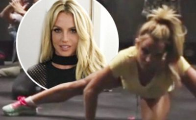 LIKE A MANNEQUIN: Britney Spears Does the 'MANNEQUIN' Challenge With Her Dancers!