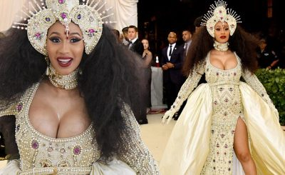 Cardi B Dresses as The VIRGIN MARY at Met Gala 2018!