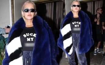 Christina Aguilera Boasts RUDE Message on Her Shirt!