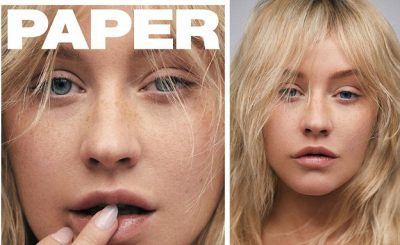 Makeup-Less CHRISTINA AGUILERA Covers Paper Magazine