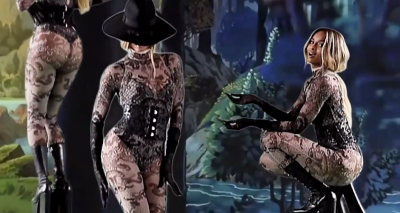 Ciara Dances in Nude Catsuit for LOVE Magazine AGAINST A DIGITAL FOREST!