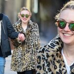 Dakota Fanning Sips a Tall-One While Walking Boyfriend image