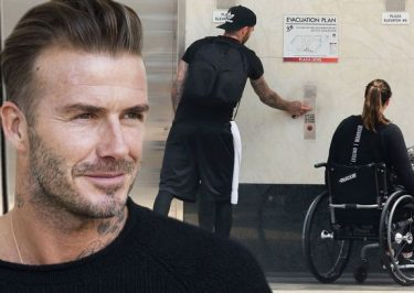 David Beckham Saves Old Lady Who Falls Outside His House