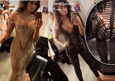 Demi Lovato Performs in GOLD at BeautyKind For Causes Charity Event