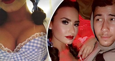Demi Lovato and Nick Jonas are DOROTHY and Scarecrow for Halloween!