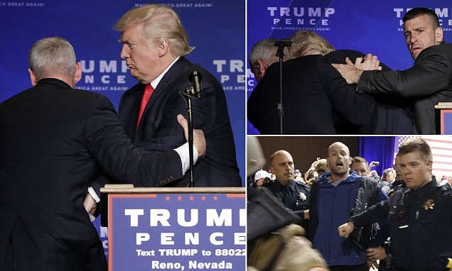 Beyhive Attacks: Donald Trump Says Beyoncé Supporting Hillary Clinton IS CHEATING as He Gets Rushed Off Stage by Secret Service!!! image