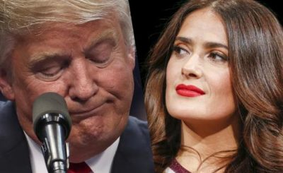 Donald Trump Leaked Fake Story About Salma Hayek After She Turned Him Down