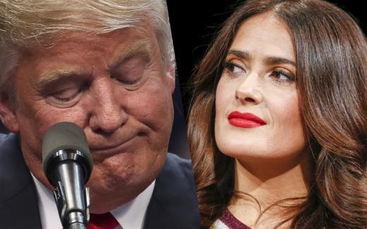 Donald Trump Leaked Fake Story About Salma Hayek After She Turned Him Down image