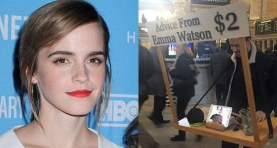 Emma Watson Gives Advice at GRAND CENTRAL STATION For $2!