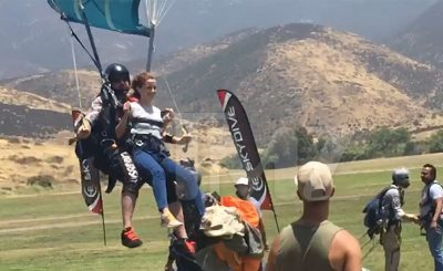 Watch Emma Watson Go SKYDIVING!