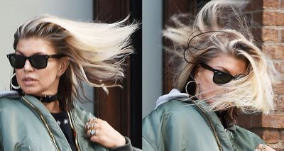 BLOW ME AWAY: Fergie Loses a Desperate Battle With Wind!