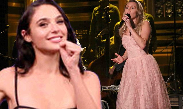 Miley Cyrus Plays a Game of CHARADES With Gal Gadot! image