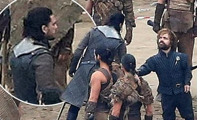 GAME OF THRONES Season Seven Spoiler Pics From Set – Jon & Daenerys Meet