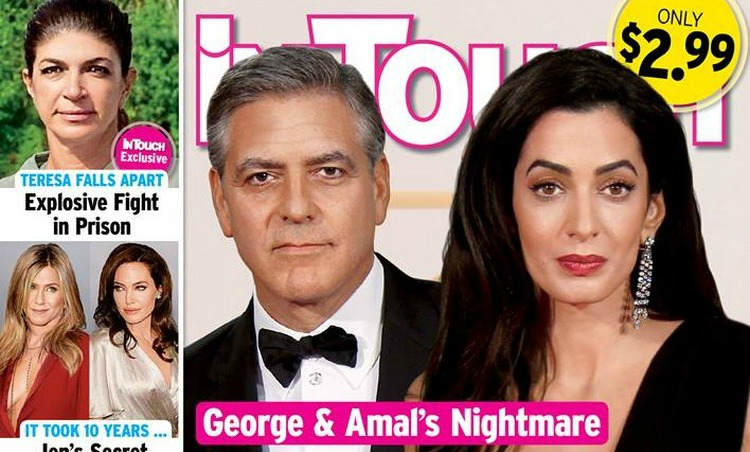 "George and Amal Clooney ""Don't Like Spending Too Much Time Apart"" image"
