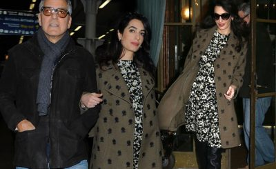 George and Amal Clooney Gave Out Free Headphones Aboard First-Class FLIGHT!