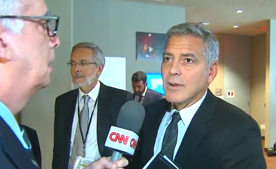 Out of the LOOP: George Clooney Finds Out About Brangelina Divorce During CNN Interview!